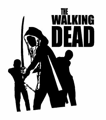 Zombie The Walking Fight The Dead Fear Living Decal Vinyl Truck Car Sticker