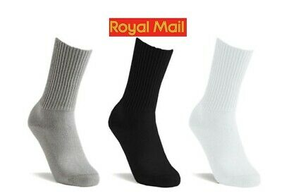 New 1//3//6//12//24Pairs Mens Cotton Rich Sport Socks Work Socks Shoe Size 7-12 Lot