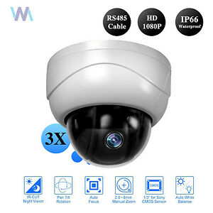 CCTV-1080P-2-0MP-IR-Mini-PTZ-Dome-Camera-AHD-CVI-TVI-CVBS-3x-zoom-2-8-8mm-Lens