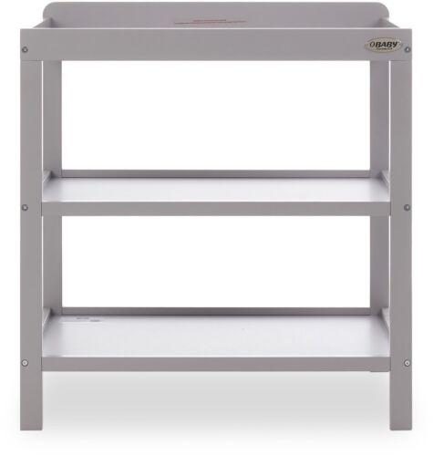 Obaby OPEN CHANGING UNIT Baby Child Nursery Furniture Warm Grey BN