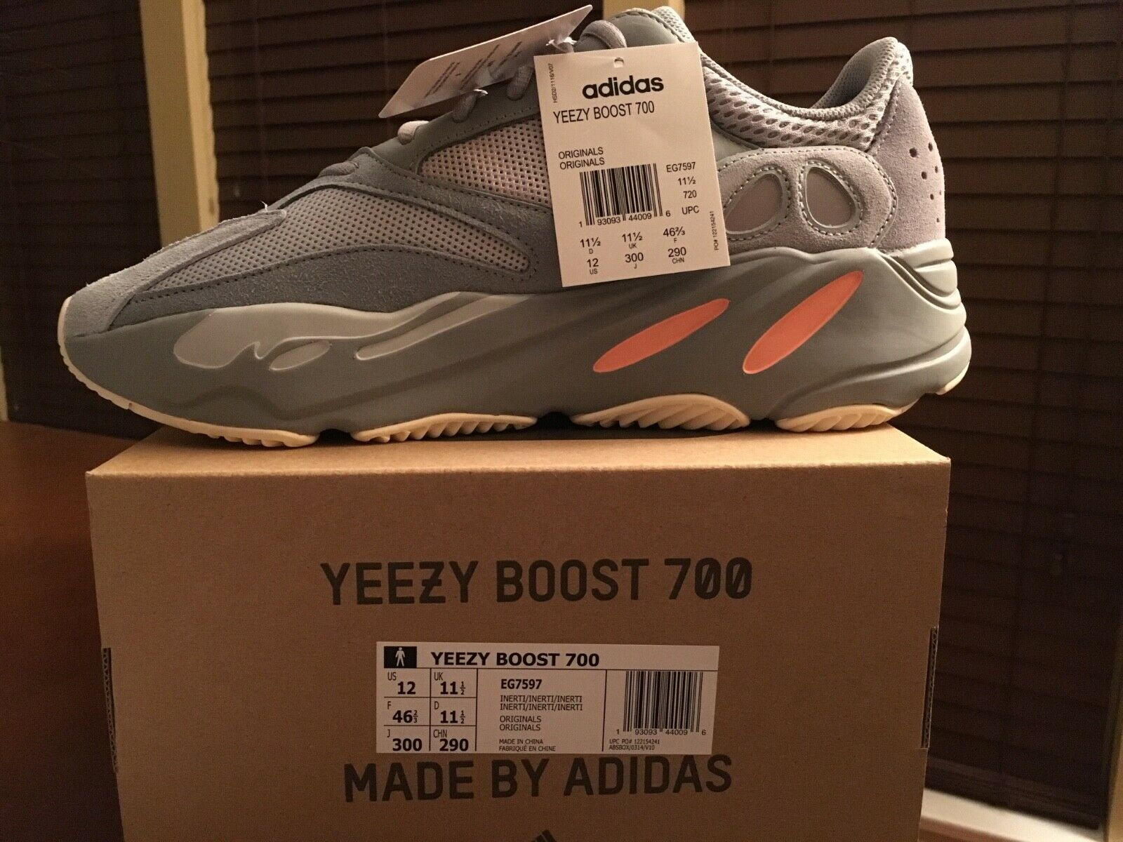 Adidas Yeezy Boost 700 Inertia Size 12 New in Box