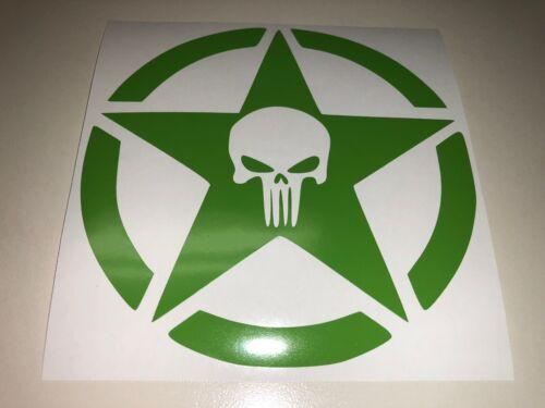 Window Toolbox Sticker #270 Punisher Skull  with Star Sticker