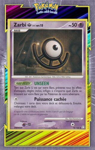 DP6:Eveil des Legendes Carte Pokemon Neuve Française 78//146 Zarbi U