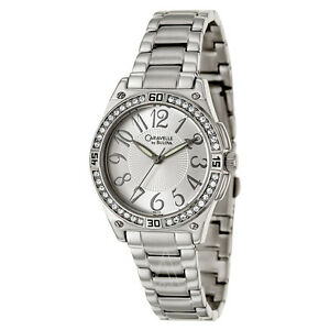 NIB-CARAVELLE-by-BULOVA-43L113-Crystal-Accented-Silver-Tone-Ladies-Watch
