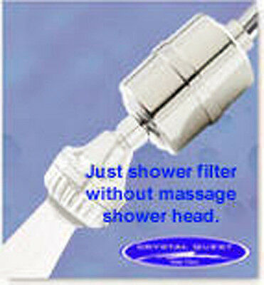 Crystal Quest Chrome KDF and Carbon Shower Filter (CQE-SP-00802)