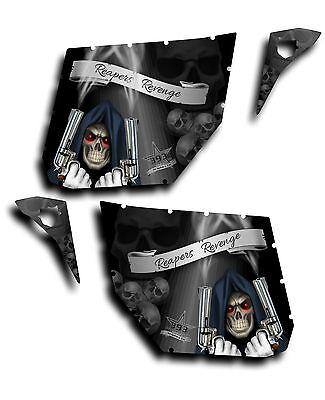 Pro Armor Door Graphic Decal Canam Maverick Commander Reaper Revenge Black
