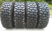 4 10-16.5 Skid Steer Tires For Bobcat & More-10x16.5-12 Ply- Non Directional