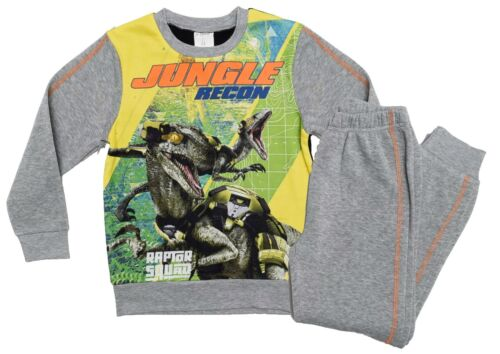 Sizes 3-8 Years New Official Jurassic World Tracksuit Jumper Joggers Pyjamas