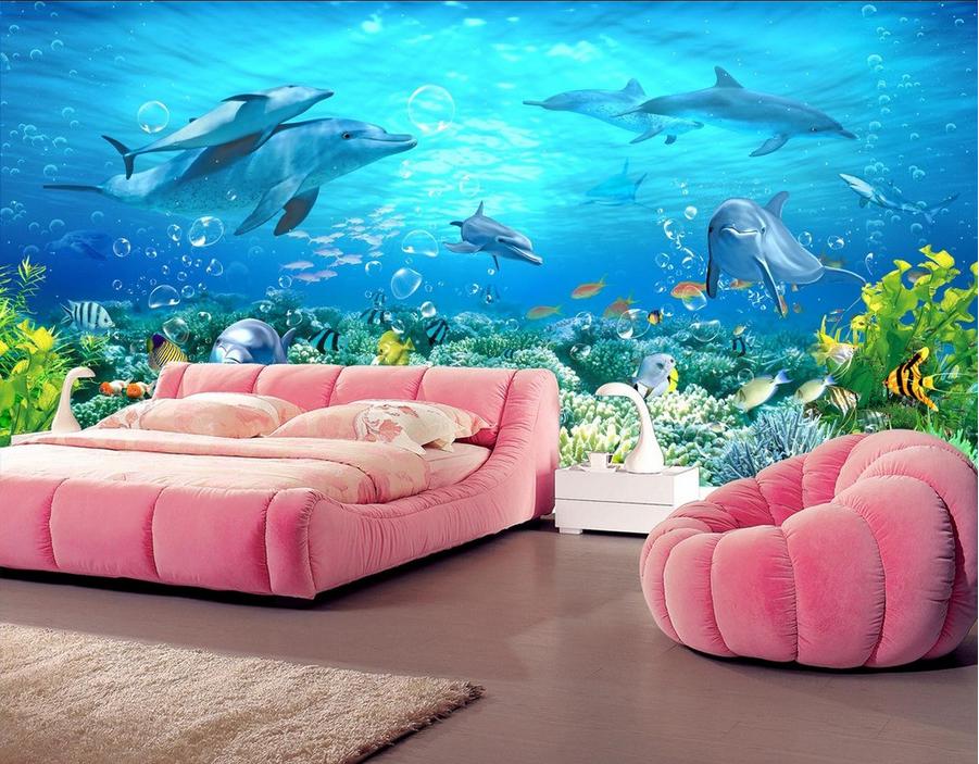 3D Blauer Ozean Delphin 964 Tapete Wandgemälde Tapete Tapete Tapete Tapeten Bild Familie DE | Neues Design  | Exquisite (in) Verarbeitung  |  21e1df