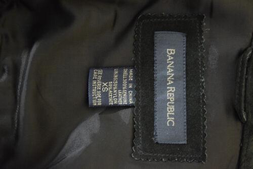 pour Republic en Banana Xs cuir olive femme Manteau en daim Z6pvqw