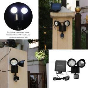 22-LED-Energie-solaire-detecteur-de-mouvement-Lumiere-Lampe-de-jardin-Exterieur