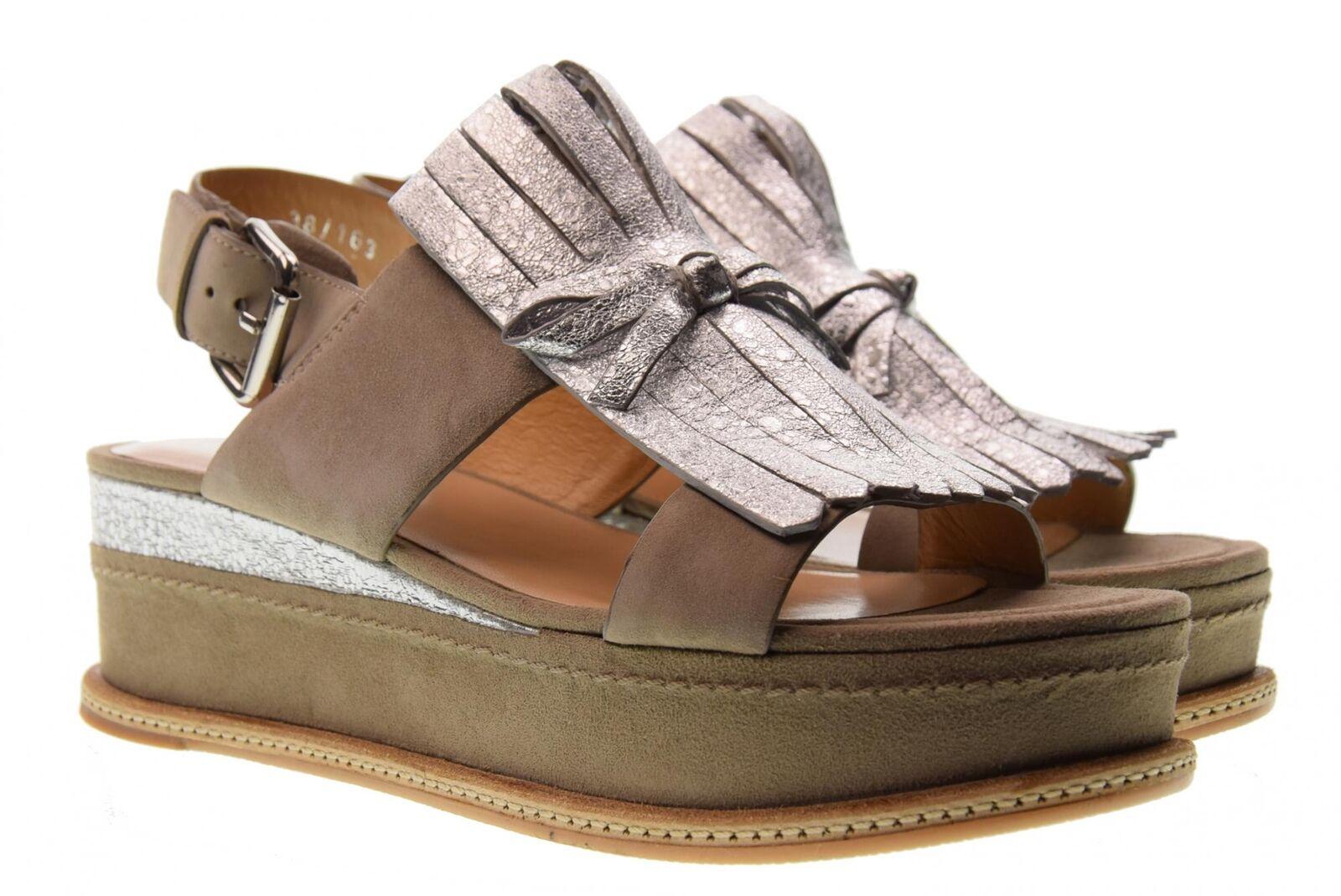 Adele Dezotti scarpe donna sandali con piattaforma P0700N ARGENTO/SABBIA P18