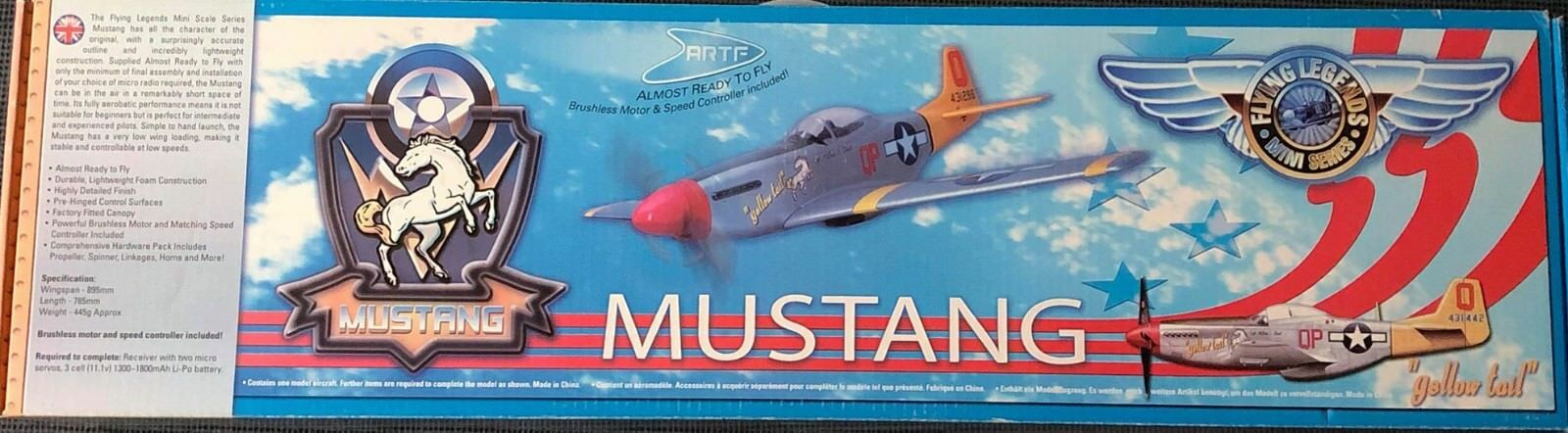 Mustang almost ready to fly Brushless Motore Regolatore