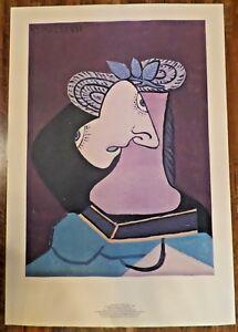 Pablo-Picasso-Lithograph-Le-Chapeau-De-Paille-Numbered-LTD-1979-1980-2341-5000