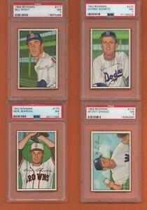 Gene Bearden #173 1952 Bowman Baseball Card - Graded PSA 7 - ONE CARD