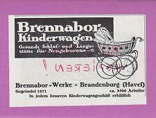 BRANDENBURG HAVEL, Werbung 1916, Brennabor-Werke Kinder-Wagen