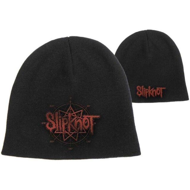 Slipknot Band Logo Black Red Beanie Hat Official Mens Womens Cap ... 2fbe5365b05