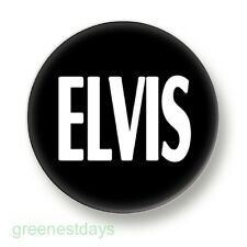 Elvis 1 Inch / 25mm Pin Button Badge Music King Rock & Roll Memphis Soul Pop