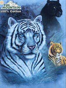 Details about The Mountain White Tiger, Orange Tiger Puma Blue T Shirt Size: XXL