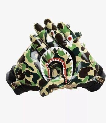 """Amichevole Adidas X Bape """"bowl"""" Adizero 8.0 Gloves Xl Nuovo Green Camo A Bathing Ape-mostra Il Titolo Originale"""