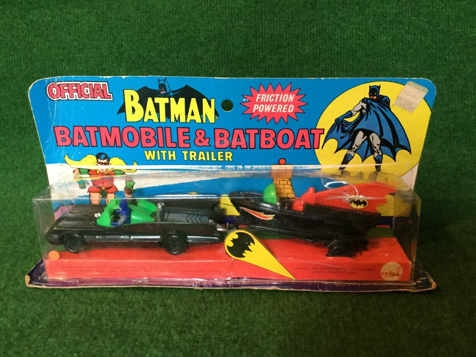 AHI Azrak Hamway Batman Batmobile & Batboat with Trailer Boxed Selten   Rare