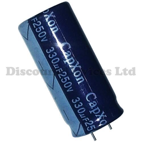 330uF 250V Radial Electrolytic Capacitor 85C
