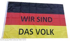 """Deutschland Fahne """"Wir sind das Volk""""  (Pegida Flagge, AfD Demo,Merkel muss weg)"""