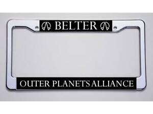 United Federation Of Planets  Black Metal License Plate Frame Tag Holder
