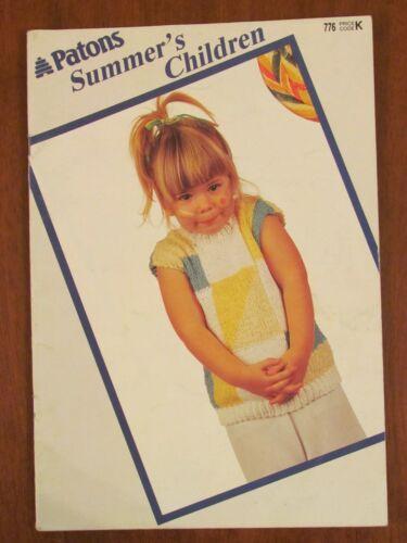 776 SUMMER/'S CHILDREN BOY GIRL JUMPER CARDIGAN TOPS COTTON PATONS KNITTING