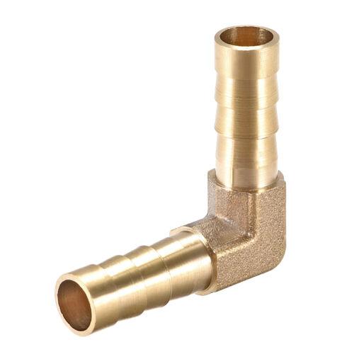 8mm Púa Latón Manguera Montaje 90 Grados Codo Tubo Conector Acoplador