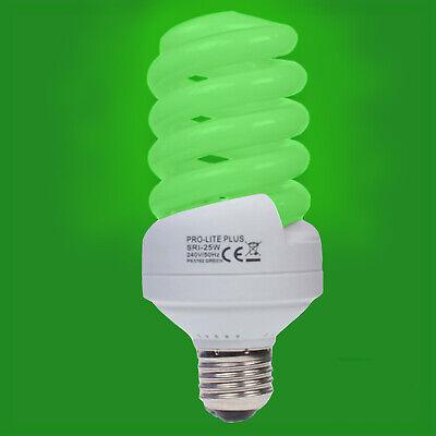 CFL 4000K Cool White Spiral ES E27 Edison Screw Light Bulb Lamp 2x 25W =120W