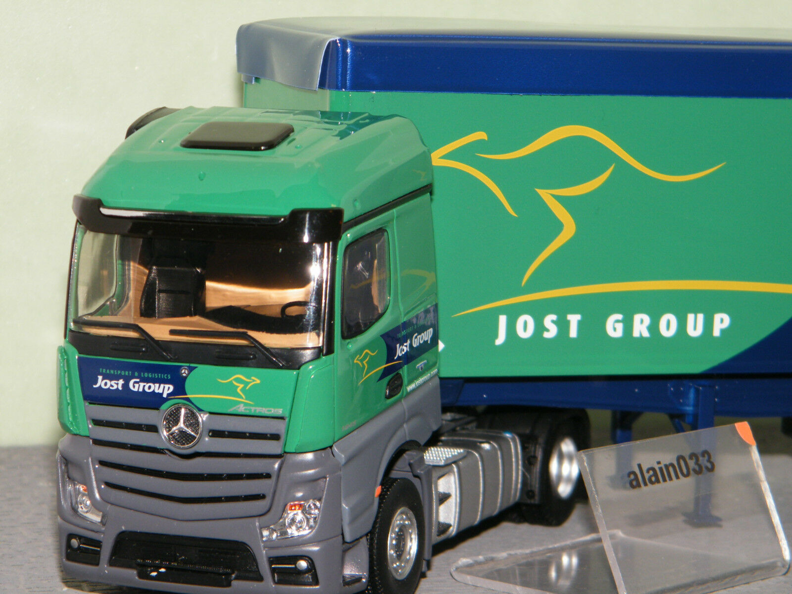 MERCEDES ACTROS 2 BENNE CEREALIERE JOST GROUP ELIGOR 1/43 1/43 1/43 Ref 116038 | Exquis Art