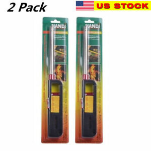 Details about 2PK BBQ Grill Lighter Refillable Butane Gas Candle Fireplace  Kitchen Stove Long