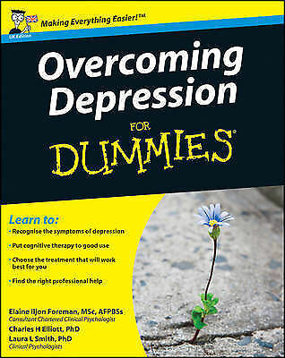 1 of 1 - Overcoming Depression for Dummies-ExLibrary