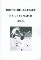 The Football League Match By Match 1958/59 Season Complete Statistics book
