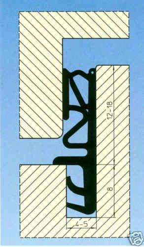 Trelleb Tür Fensterdichtung Silikon 15mm SC 315 1m=4,20€ weiß//braun//schwarz  5m