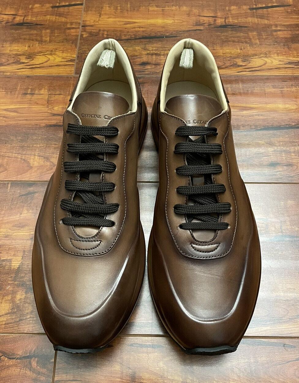 NIB Officine Creative Race Lux Leather Sneakers   Brown, EU 43