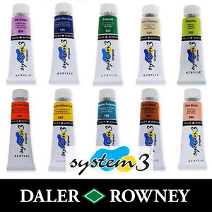Daler-Rowney-System-3-Original-Acrylic-Paint-75ml-Tubes-All-Colours-Available