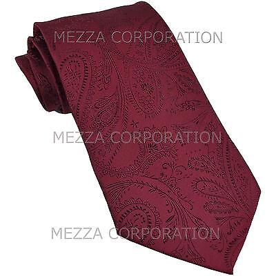 New Vesuvio Napoli polyester Men/'s necktie paisley wedding formal prom Yellow