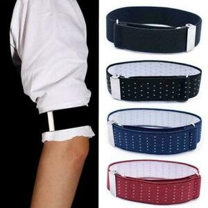 Adjustable-Elastic-Shirt-Sleeve-Garter-Strap-Arm-Band-Armband-Cuff-New-Slee-F8F9