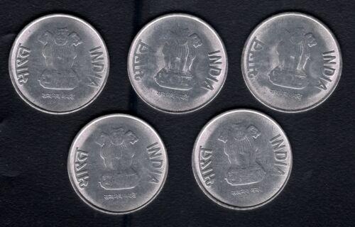 "India 2013 2 Rupees  4/""O Clock Die Rotation Error 5 UNC Coins"