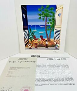 Francois-Fanch-Ledan-Volets-Caraibes-Signed-Seriolithograph-with-COA