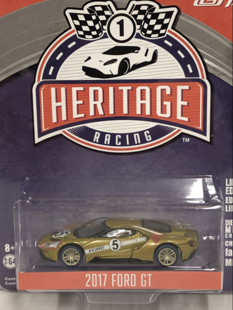 2017 Ford GT Cooper Red No5 Tribute Racing Heritage 1:64 Scale Greenlight 13200C
