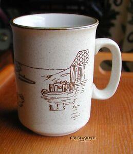 VINTAGE-COREE-COLLECTION-MANOIR-CHINA-4-034-COFFEE-MUG-WHARF-SCENE