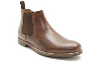 Mens Red Tape Foxhill Leather Brown Milled Formal Boots Free /& Fast SHIPPING