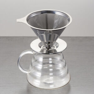 Europe Stainless Steel Reusable Coffee Filter Holder Pour Over Tea Dripper Cup W | eBay