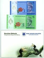 Malaysia ... P-51,52 ... 1, 5 Ringgit ... ND(2012) ... CH*UNC*  Matching Serial#