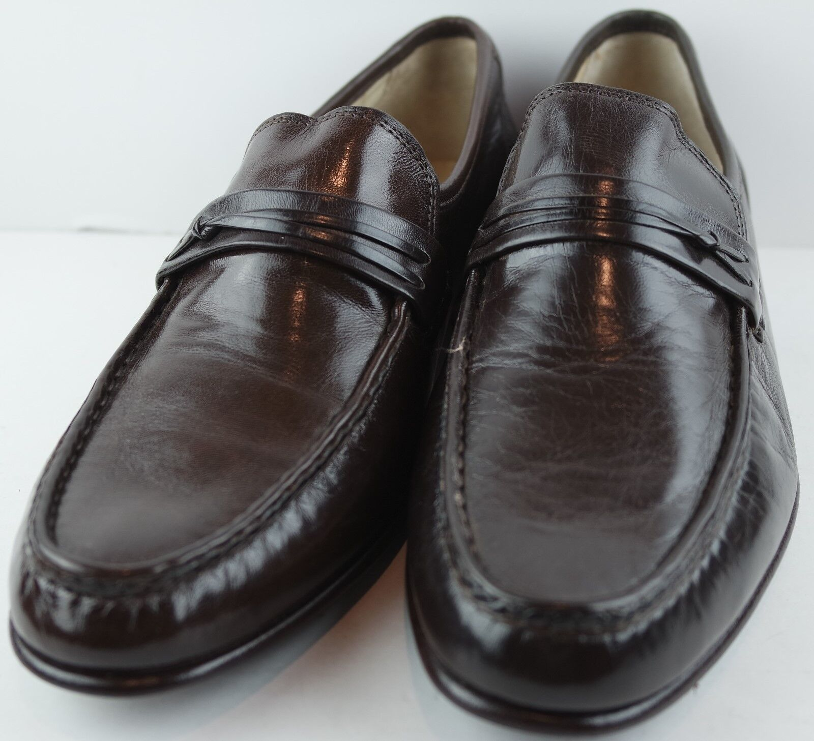DANIELE FERRADINI Mens braun Leather Loafers Loafers Loafers  Made Größe 10 N 92fbc9
