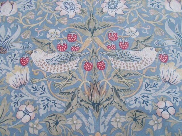 William Morris Curtain Fabric STRAWBERRY THIEF 05 METRES 50cm Slate Vellum