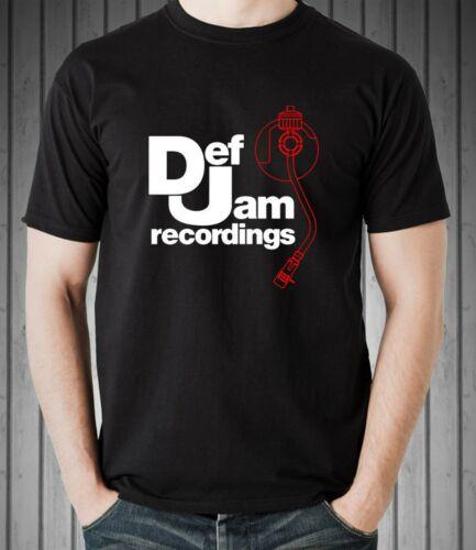 DEF JAM RECORDINGS Logo Classic Rap Hip Hop Men/'s T-shirt Tee Size S-4XL